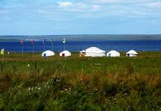 Yurt In The Grassland. Stock Photos