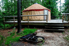 Yurt Kampieren Stockfotos