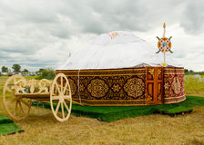 Yurt Kazakstan lizenzfreie stockbilder
