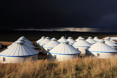 Yurt - la tente du nomade photographie stock
