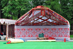 Yurt model shown at VDNKH park in Moscow. Stock Photo