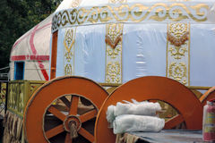 Yurt model shown at VDNKH park in Moscow. Royalty Free Stock Image