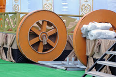 Yurt model shown at VDNKH park in Moscow. Stock Photos