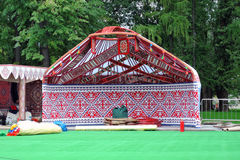 Yurt model shown at VDNKH park in Moscow. Royalty Free Stock Photography