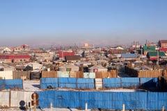 Yurt mongol en Ulán Bator Fotos de archivo libres de regalías