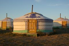 Yurt in Mongolei Lizenzfreie Stockfotos