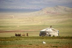 Yurt in Mongolei Stockbild