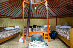 Yurt - Mongolië stock afbeeldingen