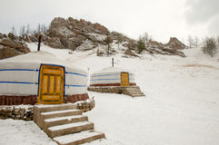 Yurt - Mongolië stock fotografie