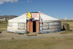 Yurt in Mongolia Royalty Free Stock Images