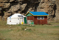 Yurt in Mongolia Royalty Free Stock Photography