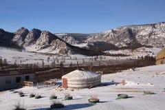Yurt mongolo fotografie stock