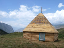 Yurt on the mountains Royalty Free Stock Photography