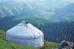 Yurt in the mountains Stock Photos