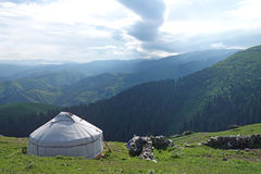 Yurt in the mountains Royalty Free Stock Images