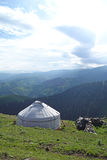 Yurt in the mountains Stock Image