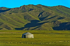 Yurt of a nomad family Royalty Free Stock Image