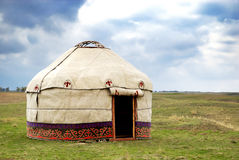 Yurt - Nomad's tent. Is the national dwelling of Kazakhstan and Kirghizstan peoples Royalty Free Stock Image