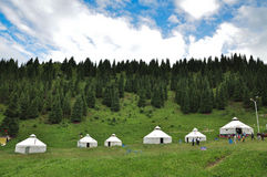 Yurt - Nomad's tent in the grassland Stock Photography