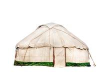 Yurt nomadic house. Yurt traditional nomadic house in central Asia isolated on white background stock image