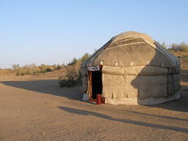 Yurt in Oezbekistan Stock Foto's