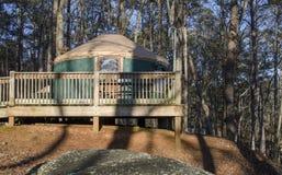 Yurt que acampa, parque de estado de la montaña del top rojo, Georgia, los E.E.U.U. Fotos de archivo libres de regalías