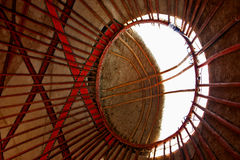 Yurt roof interior. The abstract view of the inside of a roof of a yurt Stock Images