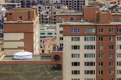 Yurt on the roof of a modern building in Ulaanbaatar Royalty Free Stock Photos