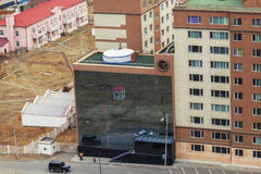 Yurt on the roof of a modern building in Ulaanbaatar Royalty Free Stock Photo