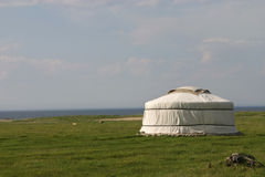 Yurt solo Fotografia Stock