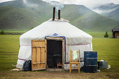 Yurt típico en Mongolia Imagen de archivo