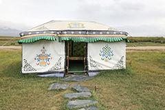 Yurt Tent. Nomad Mongolian Hut royalty free stock photo