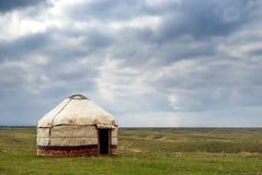 Yurt - tienda del nómada foto de archivo