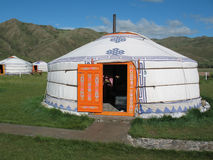 Yurt in the tourist camp Royalty Free Stock Photos