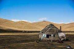 Yurt tradizionale delle tribù di Asia centrale Fotografia Stock Libera da Diritti