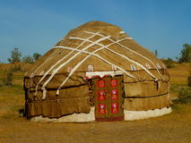 Yurt in Uzbekistan. Yurt in the desert of Uzbekistan Royalty Free Stock Photos