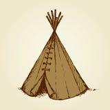 Yurt. Vector drawing Royalty Free Stock Image
