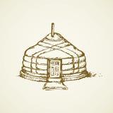 Yurt. Vector drawing Stock Image