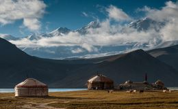 Karakul Lake in Xinjiang Uighur Autonomous Region of China Royalty Free Stock Image