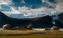 Karakul Lake in Xinjiang Uighur Autonomous Region of China Stock Images