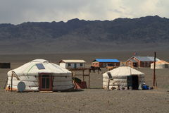 Yurt Village Mongolia Royalty Free Stock Photo