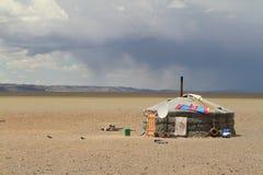 Yurt Village Mongolia Stock Photo