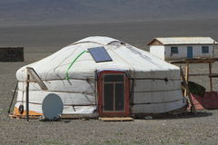 Yurt Village Mongolia Royalty Free Stock Photography