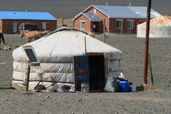 Yurt Village Mongolia Stock Photos