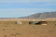 Yurt Village Mongolia Royalty Free Stock Photo