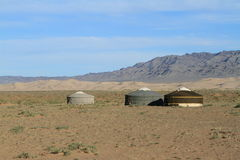 Yurt Village Mongolia Royalty Free Stock Photos