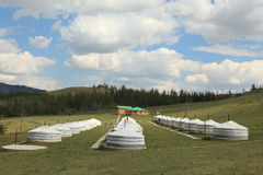Yurt Village Mongolia Stock Photo
