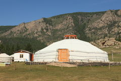 Yurt Village Mongolia Royalty Free Stock Image