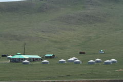 Yurt Village Mongolia Stock Image
