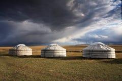 Yurt - Zelt des Nomaden stockbilder